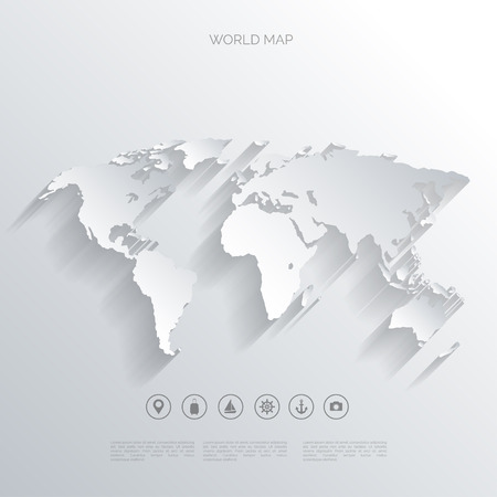 globe map: World map concept.