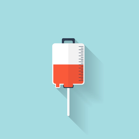 appeal: Intravenous therapy system icon.Medical dropper. Health care. Illustration