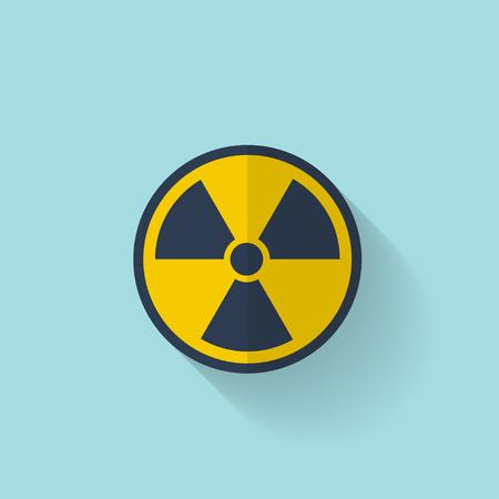 radiacion: Icono de la radiaci�n plana.