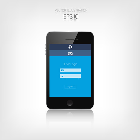 adaptive: Responsive web design. Adaptive user interface. Digital devises. Smartphone. Web site template concept.