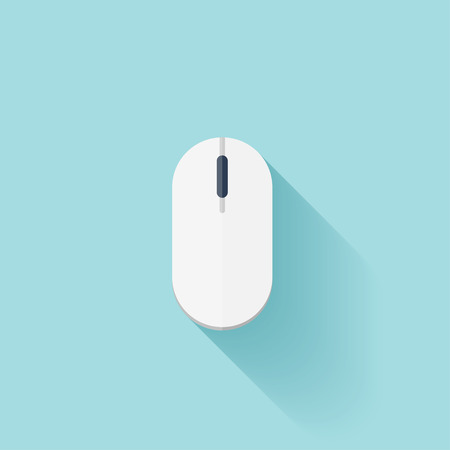scrolling: Flatcomputer mouse icon with shadow