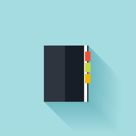 agenda: Notepad flat cion with shadow Illustration