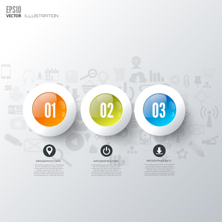 Business step infographic. Timeline background.