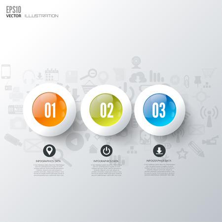 web menu: Business step infographic. Timeline background.