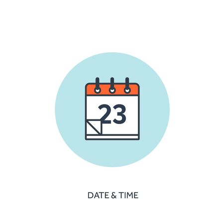 event icon: Vector illustration. Calendar lined icon.Date and time. Holiday planning. Illustration
