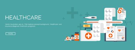farmacia: Ilustración del vector. Antecedentes médicos planos establecidos. La atención de salud y primeros auxilios, la investigación médica y la cardiología. Medicina y estudio. Ingeniería química y farmacia. Vectores