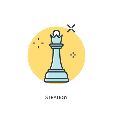 ajedrez: Ajedrez plana forrada figura. Concepto de la estrategia de fondo.