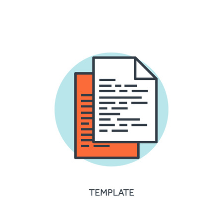 stylesheet: Flat lined template icon. program code. Programming and coding.