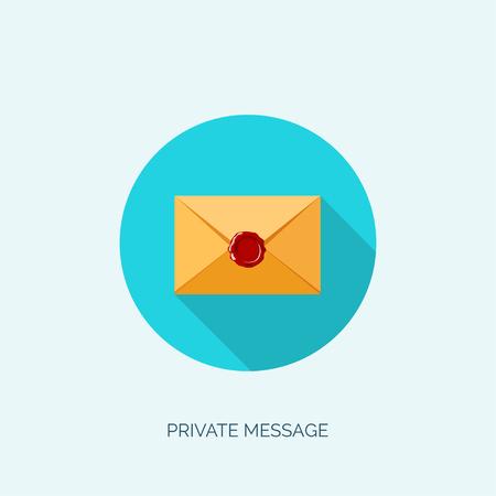 email: Vector illustration. Flat envelope. Emailing and global communication. Letter. Social network.
