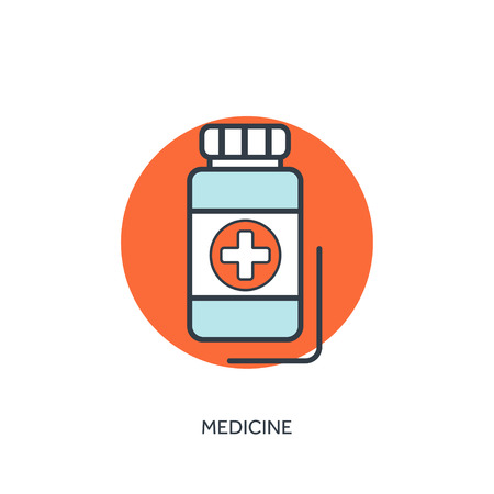 antibiotics: Vector illustration.Pills and antibiotics. Medical icon. First aid help and diagnosis.Medical research and therapy. Global healthcare.