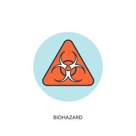 contagious: Vector illustration. Biohazard. Danger.