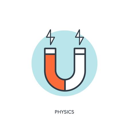 magnetization: Vector illustration. Magnet Symbol. Electromagnetism symbol Illustration
