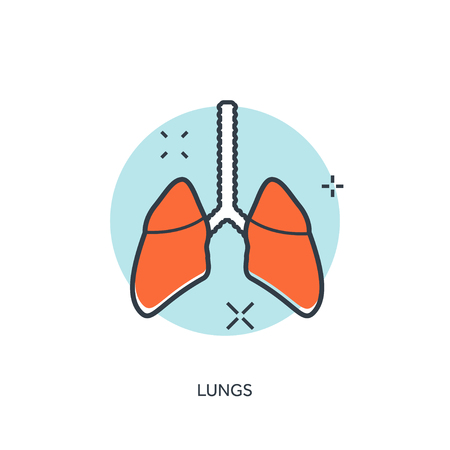 poumon humain: Human lung icon. Medical background. Health care Illustration