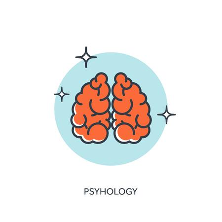 Vector illustration. Brains. Psyhology Illustration