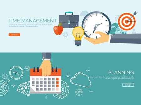 クロック フラット アイコン。世界の時間の概念。事業の背景。インターネットのマーケティング。毎日インフォ グラフィック。カレンダー。事業  イラスト・ベクター素材