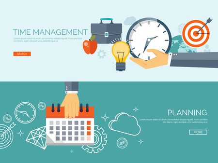 Clock flat icon. World time concept. Business background. Internet marketing. Daily infographic. Calender. Business planning and time mnagement.