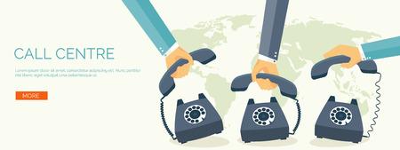 enamorados caricatura: Ilustración del vector. Fondo de la comunicación plana. Red social. Charla. Centro de llamadas. Teléfono Vectores