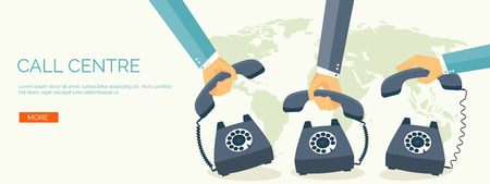telephone: Vector illustration. Flat communication background. Social network. Chatting. Call centre. Telephone