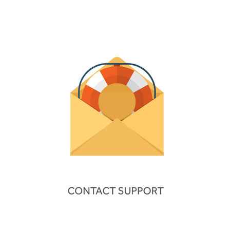 Vector illustration. Flat background with letter. Emailing concept background. Spam and sms writing.Lettering.