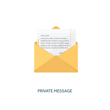 spam: Vector illustration. Flat background with letter. Emailing concept background. Spam and sms writing.Lettering.