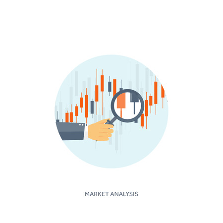 finance icon: Vector illustration. Flat background. Market trade. Trading platform ,account. Moneymaking,business. Analysis. Investing. Illustration