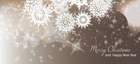 Vector illustration. Christmas card. New year. Winter holidays. Celebration. Xmas.