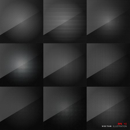 carbon fiber: Carbon fiber texture. Abstract backgrounds set. Black surface.
