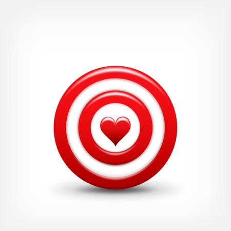 Vector illustratie. Richt met hart. Valentijnsdag. Liefde. Doel. Vector Illustratie