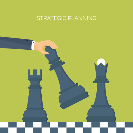 generating: ector illustration. Flat header. Chess. Management, achievements. Smart solutions, business aims. Generating ideas. Business planning, strategy Illustration