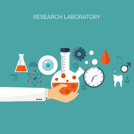 chemical engineering: Vector illustration. Flat medical background. Health care,first aid, research,cardiology. Medicine,study. Chemical engineering,pharmacy. Illustration