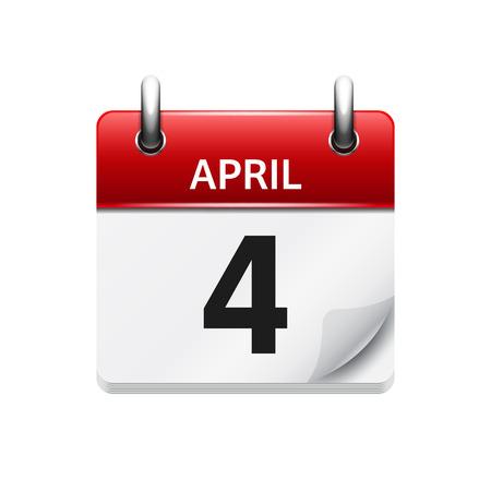 벡터 플랫 일일 캘린더 아이콘입니다. 날짜 및 시간, 일, 월. 휴일.