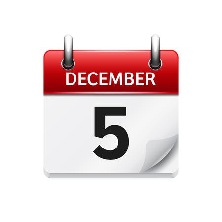 벡터 플랫 일일 캘린더 아이콘입니다. 날짜 및 시간, 일, 월. 휴일. 스톡 콘텐츠 - 54053718