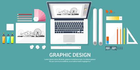 freelance: Graphic web design. Drawing and painting. Development. Illustration, sketching, freelance. User interface. UI. Computer, laptop.