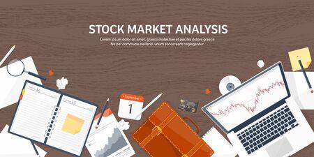 moneymaking: Vector illustration. Flat background. Market trade. Trading platform ,account. Moneymaking,business. Analysis. Investing. EPS10 format.