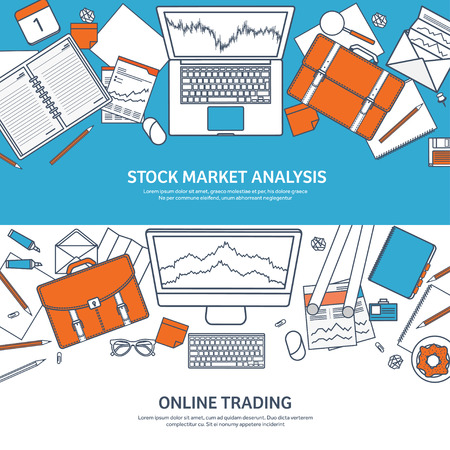 moneymaking: Vector illustration. Flat background. Market trade. Trading platform ,account. Moneymaking,business. Analysis. Investing.Line art.Lined. Illustration