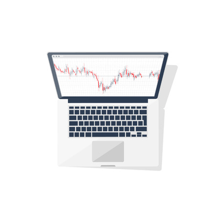 online trading: Online trading. Forex. Flat style. Investing in internet. Vector illustration Market news