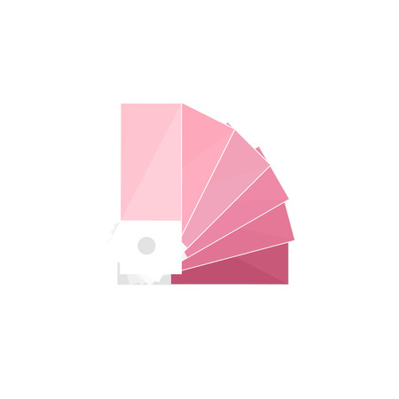 nuance: Color palette guide in a flat style. Digital drawing. Web design. Graphics. Vector illustration