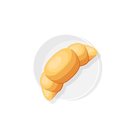 Croissant in a flat style. Food. office breakfast. Vector illustration Illustration