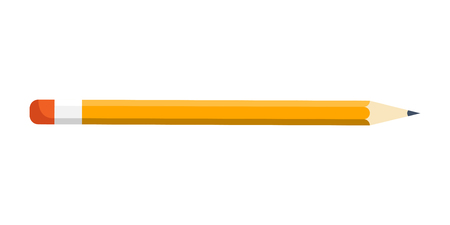 Pencil in a flat style. Drawing. Office supplies. Vector illustration Illustration
