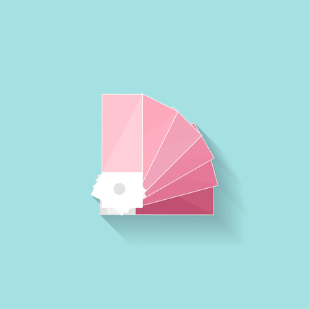 color guide: Color palette guide in a flat style. Digital drawing. Web design. Graphics. Vector illustration