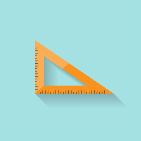 Ruler in a flat style. Scale. Width and length. Measurement tool. Vector illustration Illustration