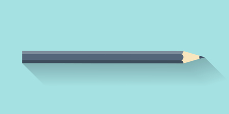 skew: Pencil in a flat style. Drawing. Office supplies. Vector illustration Illustration