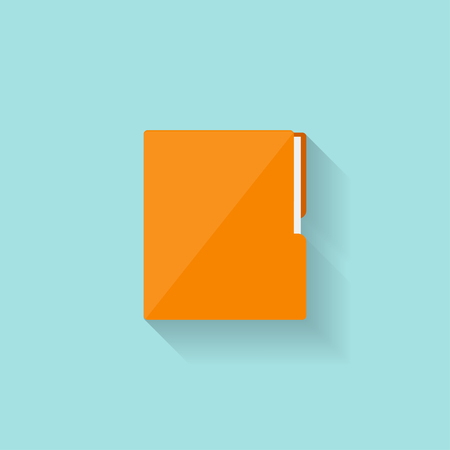 Folder with papers in a flat style. Vector illustration Illustration