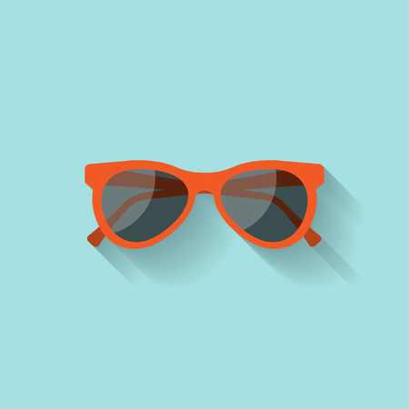 Sun glasses in a flat style. Holidays and tourism. Summer vacation.Vector illustration Illustration