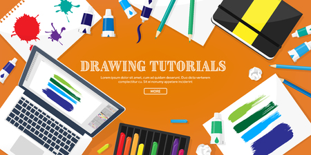 freelance: Graphic web design. Drawing and painting. Development. Illustration, sketching, freelance. User interface. UI. Computer, laptop.Typewriting Illustration