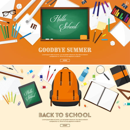 analytic: Back to school.Vector illustration.Flat style.Education and online courses, web tutorials, e-learning. Study,creative process. Power of knowledge Illustration