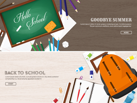 cognition: Back to school.Vector illustration.Flat style.Education and online courses, web tutorials, e-learning. Study,creative process. Power of knowledge Illustration