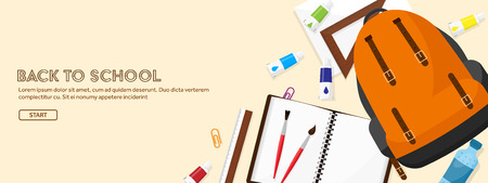 cognitive: Back to school.Vector illustration.Flat style.Education and online courses, web tutorials, e-learning. Study,creative process. Power of knowledge Illustration