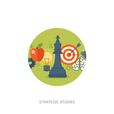 money making: Vector illustration. Flat background with chess.Strategy. Money making. Bank deposit. Financials. Illustration
