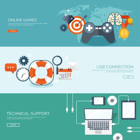online game: Flat joystick icon. Vector illustration. Gaming. Online game. Illustration